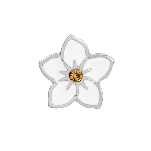 CH4138 White Flower Charm copy